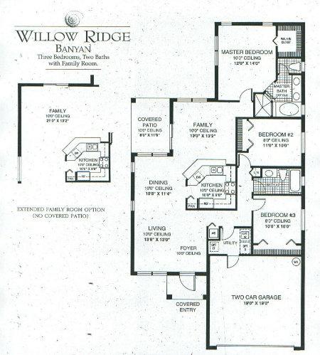 floorplan1 house for sale in the ridges at weston pond,Arvida Homes Floor Plans